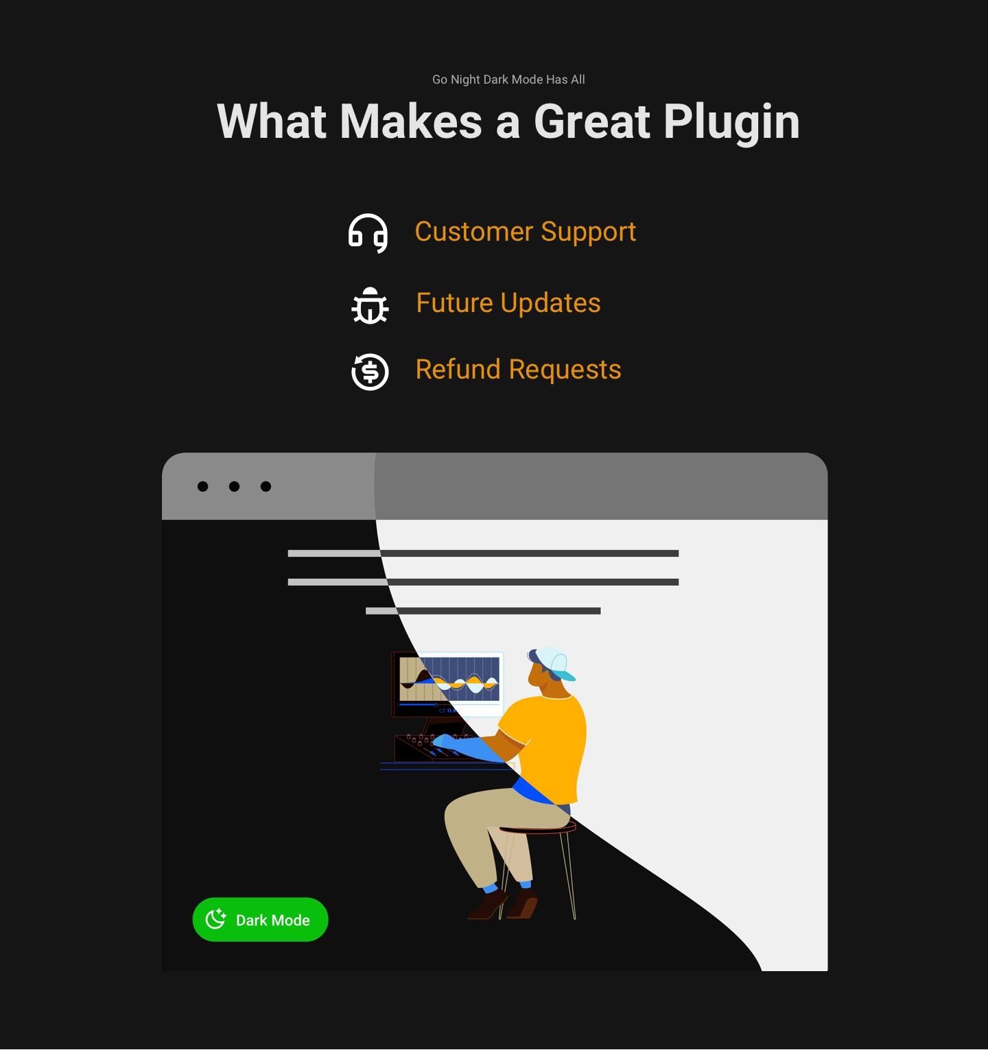 Plug-in do modo escuro |  Go Night Pro
