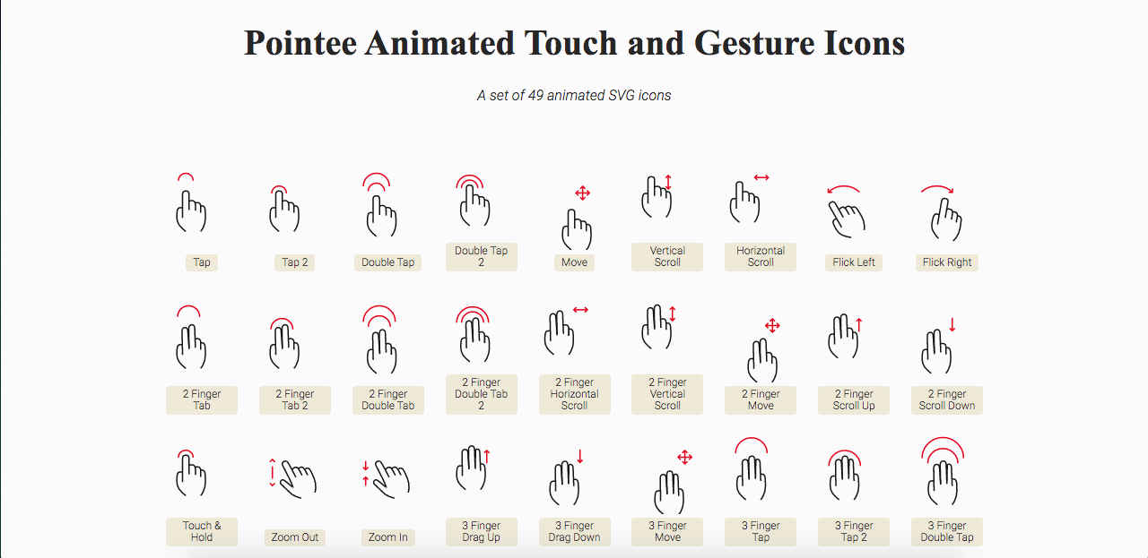 Pointee Animated SVG Icons