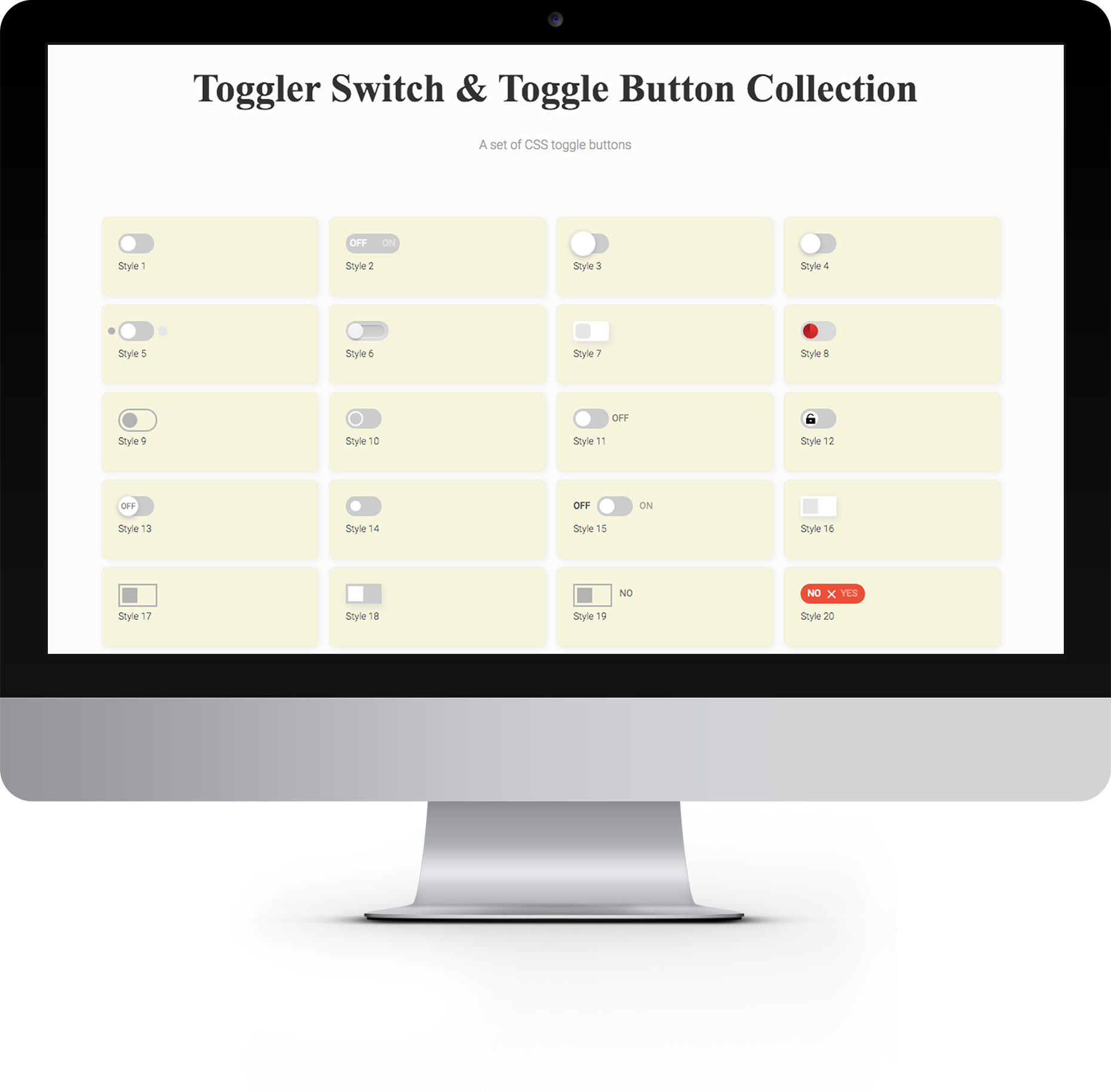 Toggler Toggle & Switch Buttons